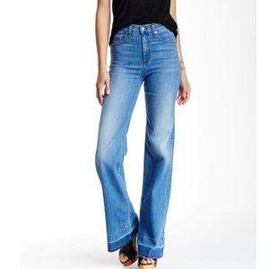 rag & bone Justine Wide Leg High Rise Jeans